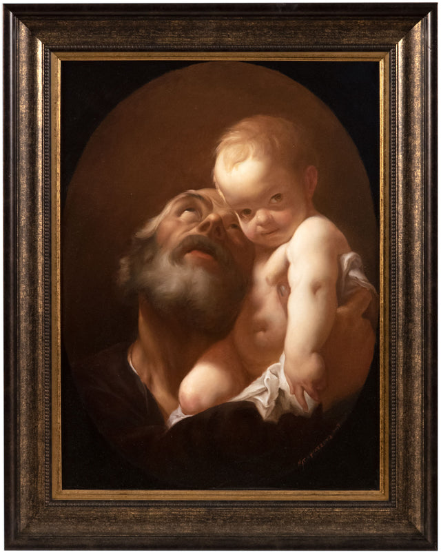 Saint Joseph and the Christ Child (after Giovanni Piazetta) by Niki Covington