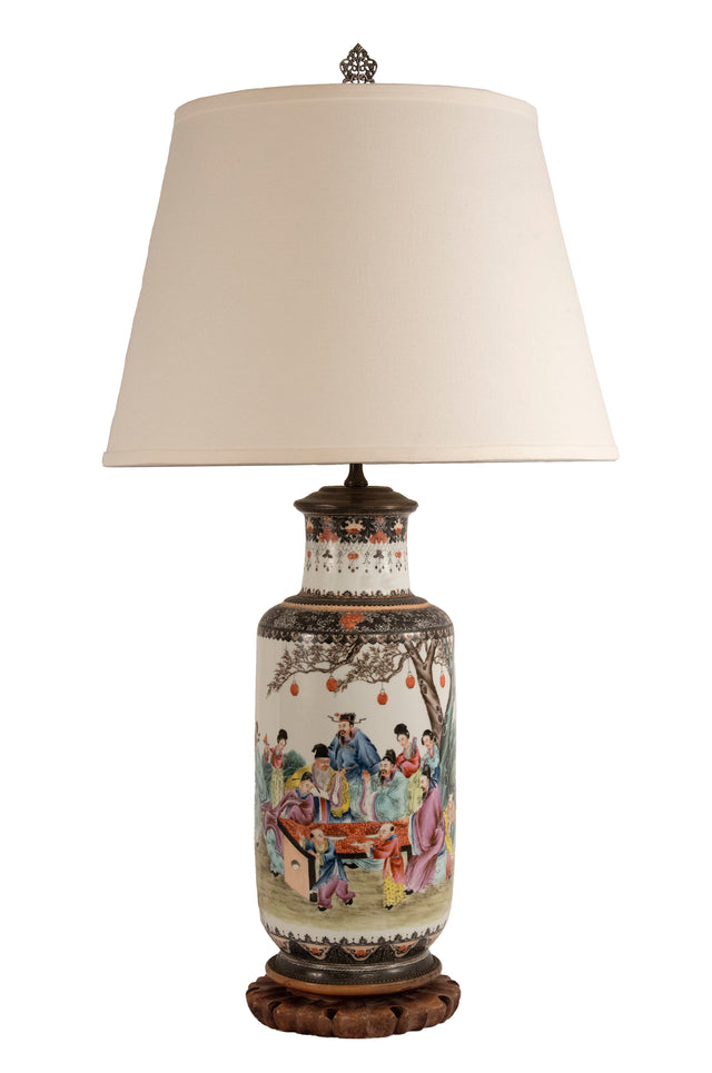 Famille Rose Chinese Porcelain Table Lamp