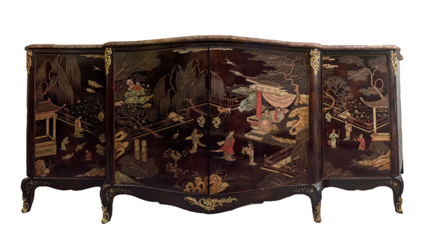 French Chinoiserie Coromandel Buffet Sideboard