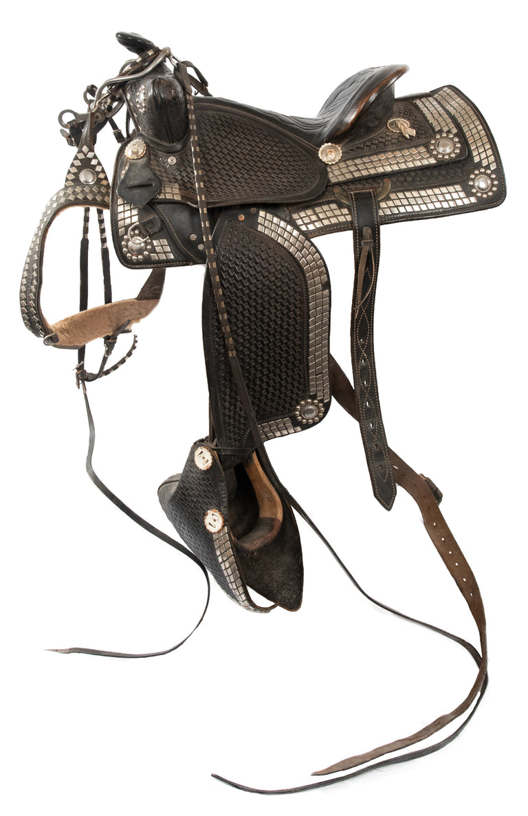 Leather and Metalwork Horse Saddle