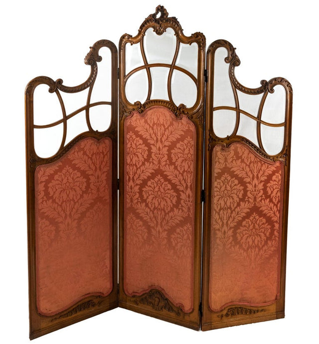 Louis XV-Style Three Panel Screen