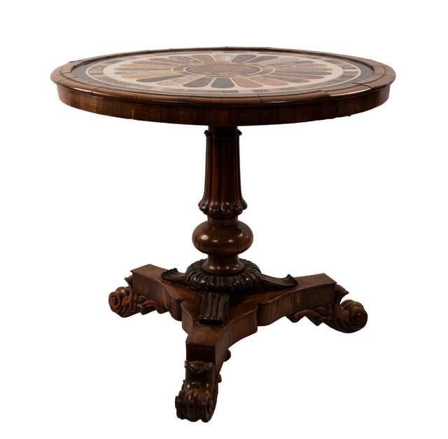 English Mahogany Regency Specimen Table
