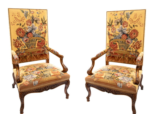 Pair of French Régence Style Armchairs