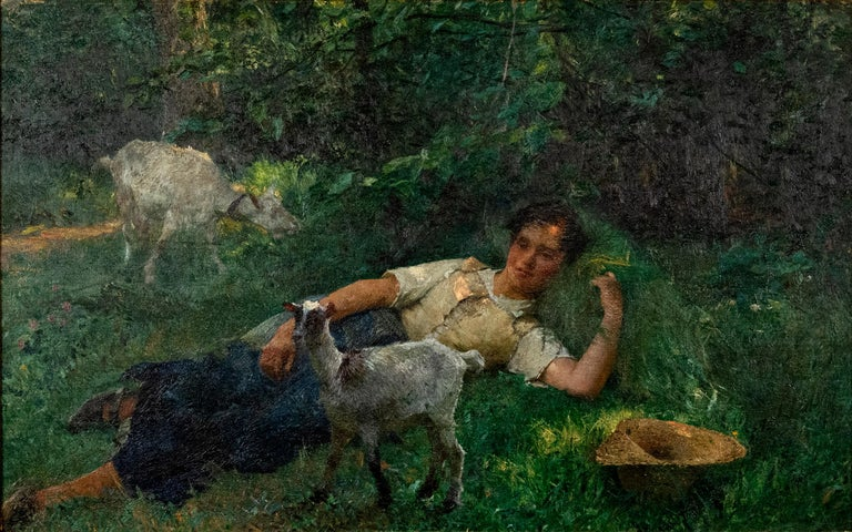 The Shepherdess by Evariste Carpentier