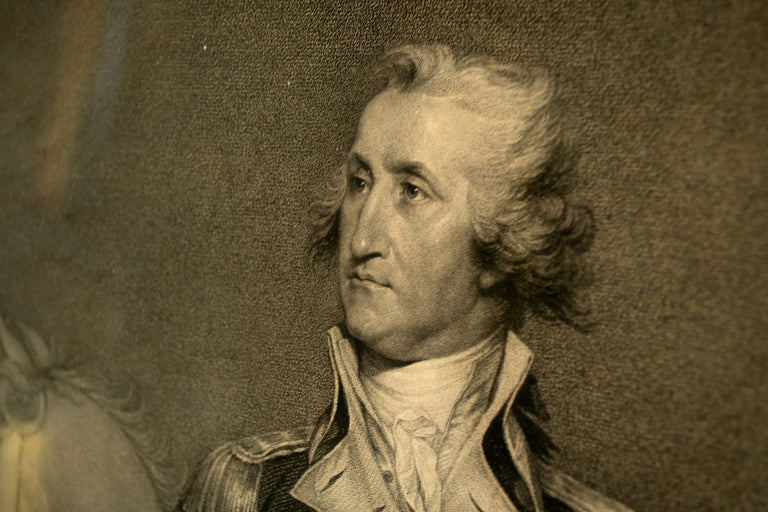An Important Eighteenth Century Portrait of George Washington by Trumbull and Cheesman