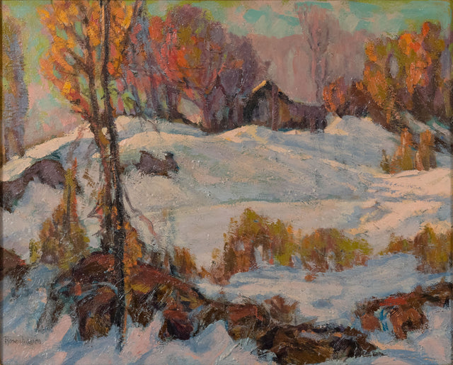 Wintery Shed by D. Howell Rosenbaum