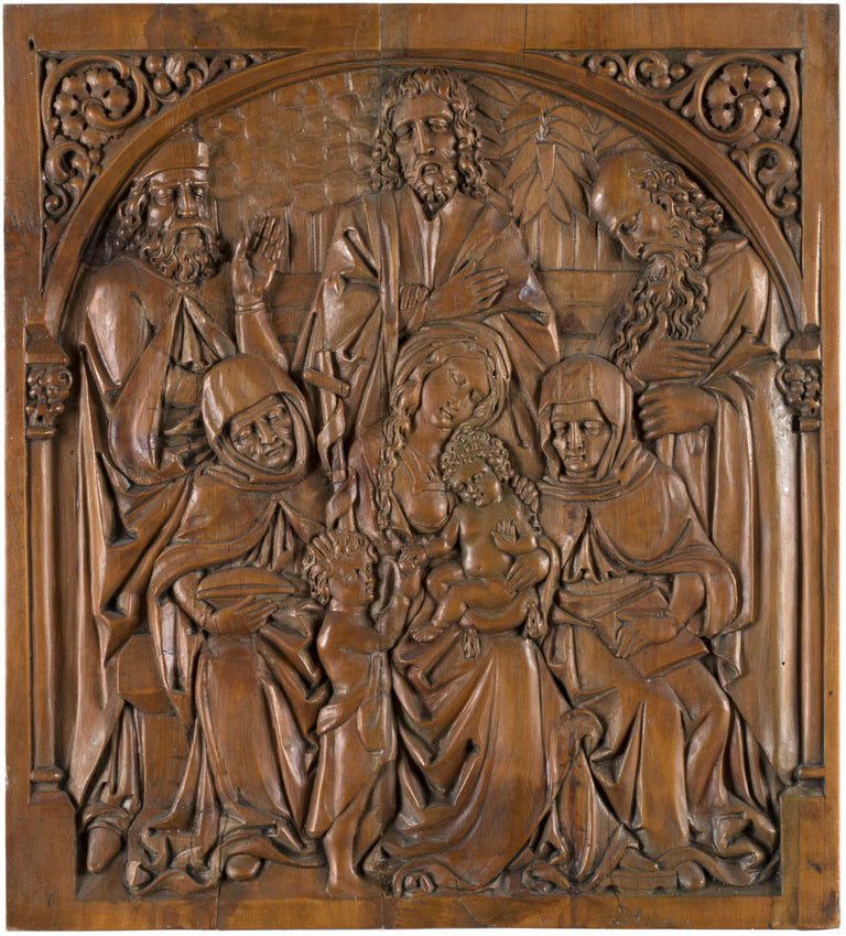 The Holy Family Sculpted Walnut
