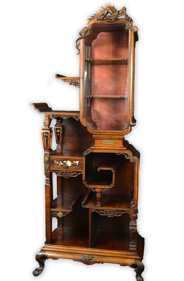 French Chinoiserie Art Nouveau Cabinet by Gabriel Viardot
