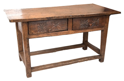 17th Century Italian Walnut Console Table