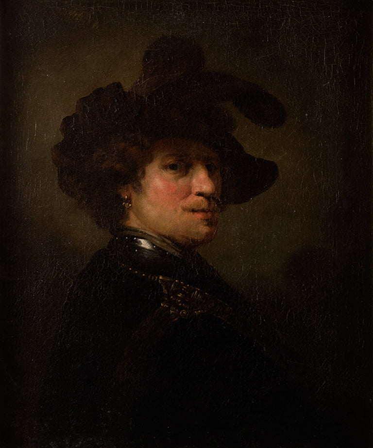 Tronie of a Man with a Feathered Beret, after Rembrandt van Rijn