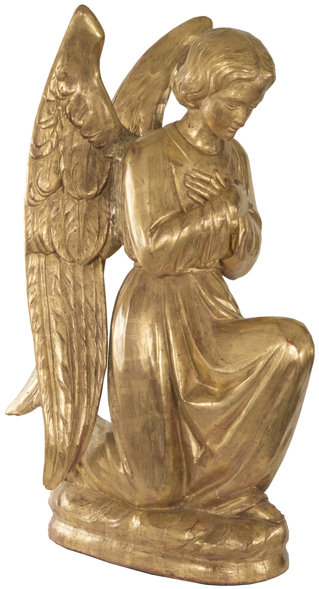 Carved and Gilt Wood Angel