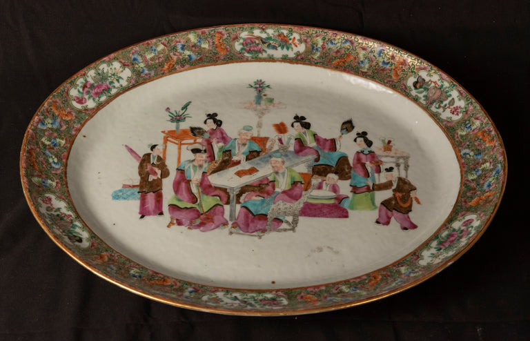 Cantonese Famille Rose Porcelain Charger (c. 1880)
