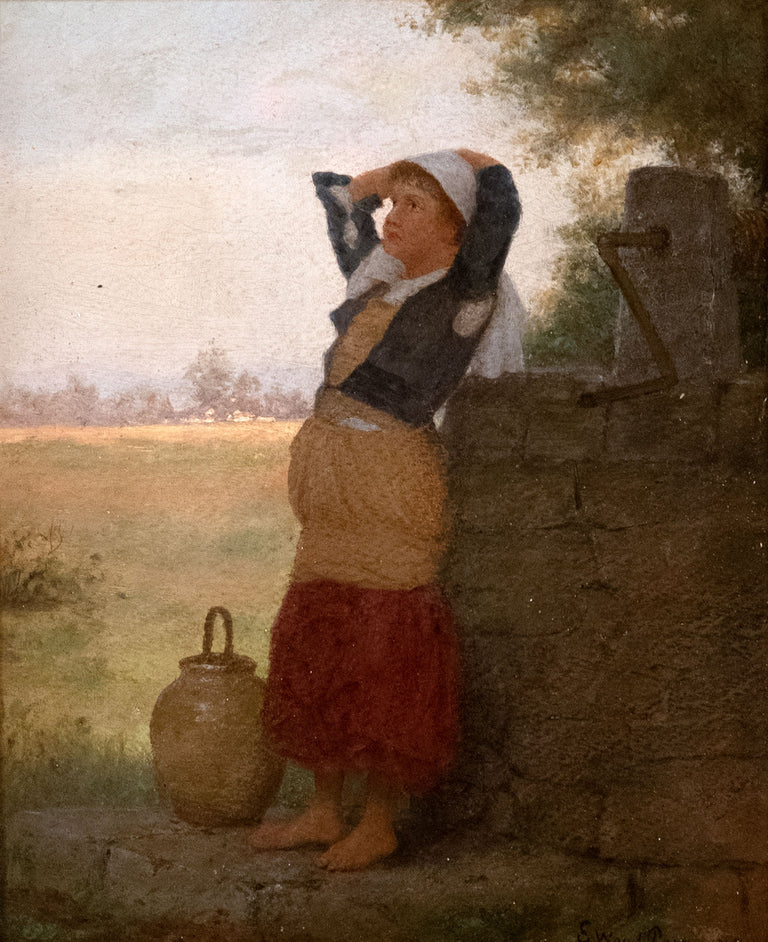 At the Well, Brittany by Enoch Wood Perry Jr.