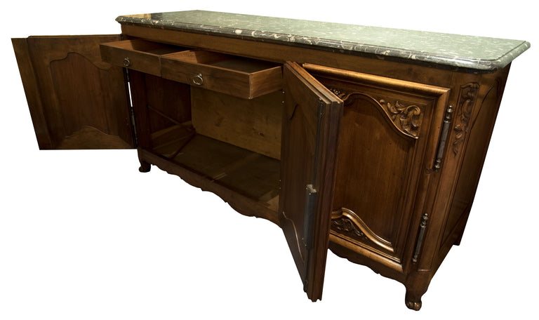 French Regency 18th Century Fossil Top Buffet Sideboard