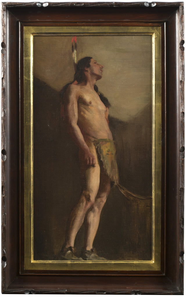 A 19th Century Painting of a Native American by Eanger Irving Couse