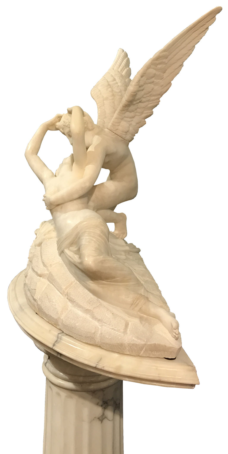 Psyche Revived by Cupid's Kiss on Pedestal (1850)