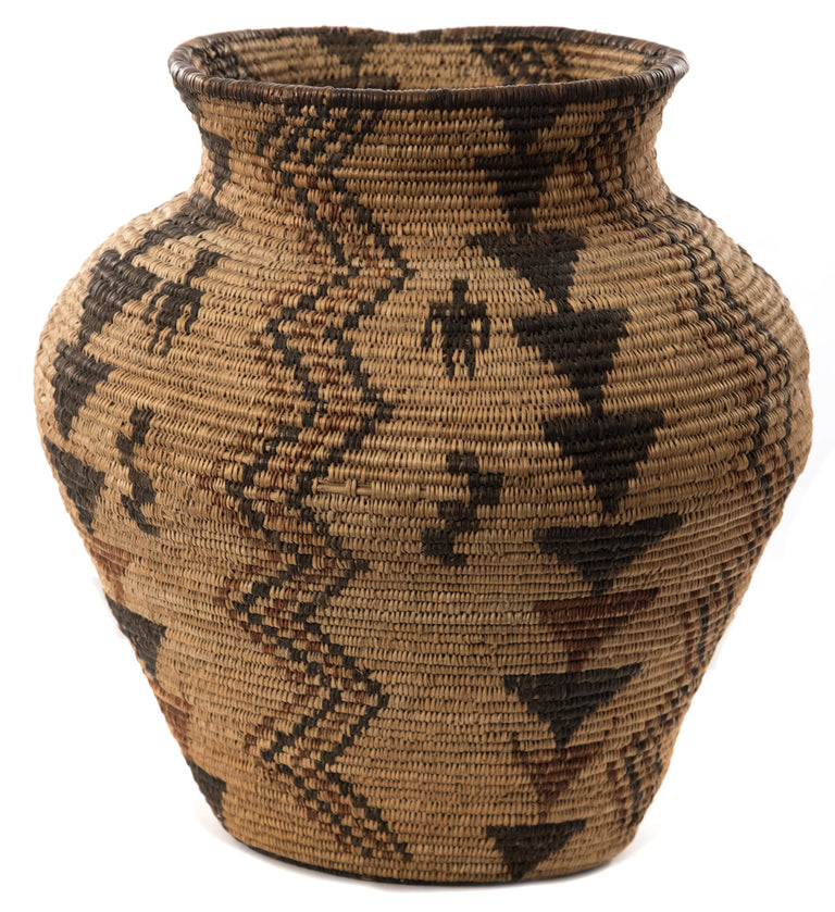 Apache Polychrome Pictorial Olla Basket