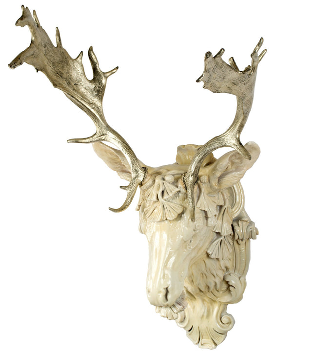 12K Gilt Fallow Deer Head