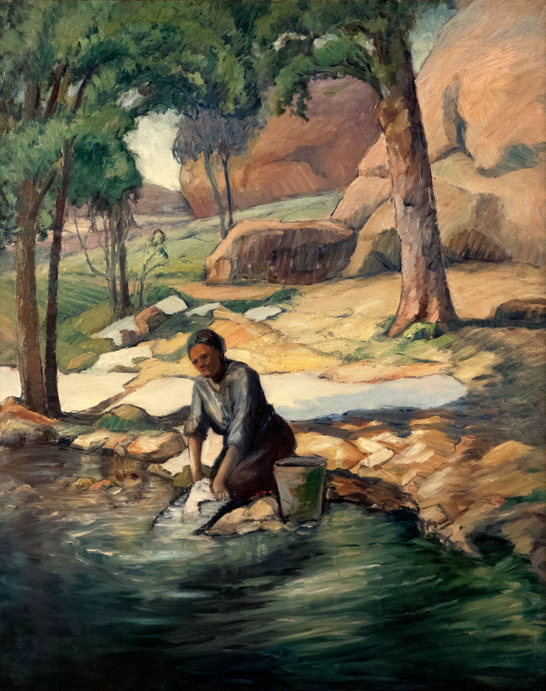 Washerwoman at Cuenco by BF Larsen