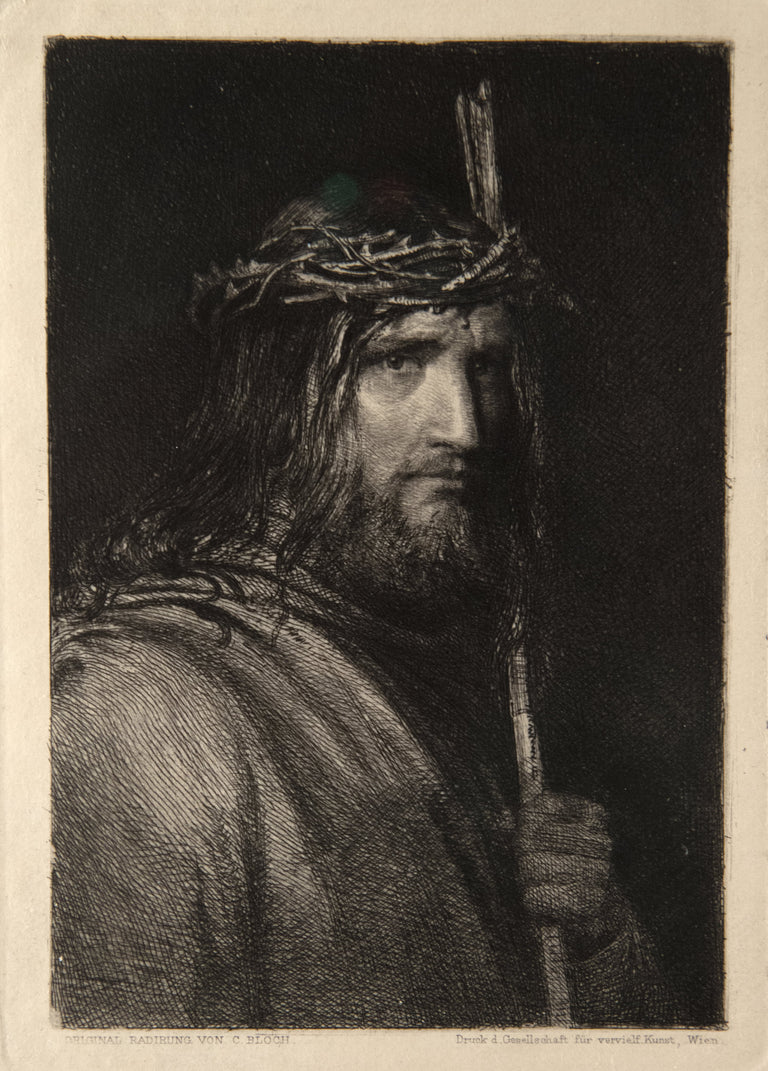 Christ With A Crown of Thorns by Carl Heinrich Bloch (1834 - 1890)
