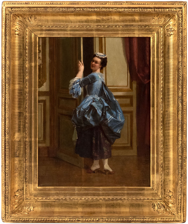 Dutch Woman in a Blue Dress by Anonymous