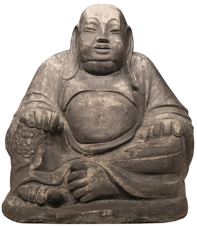 20th Century Carved Cement Buddha Sculpture