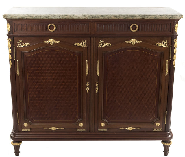 French Louis XVI Style Parquetry Inlaid Buffet