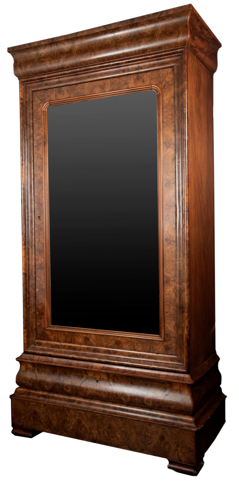 Louis-Philippe glass door cabinet (c. 1830)