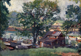 """The Old Boat House - Harlem River"" by Waldo Park Midgley"