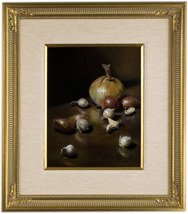 Still Life with Garlic, Shallots and Onion (c. 2008) by Aaron Stills