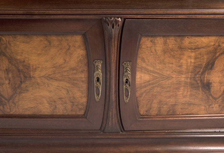 French Mahogany and Walnut Sideboard by Louis Majorelle