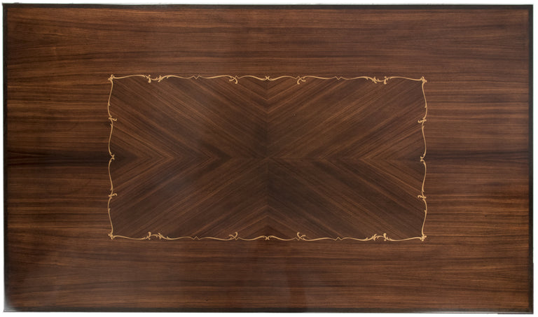 Walnut Coffee Table with Marquetry Inlay