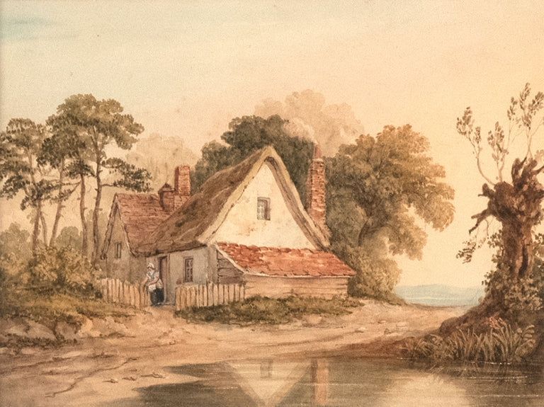English Cottage by Anonymous