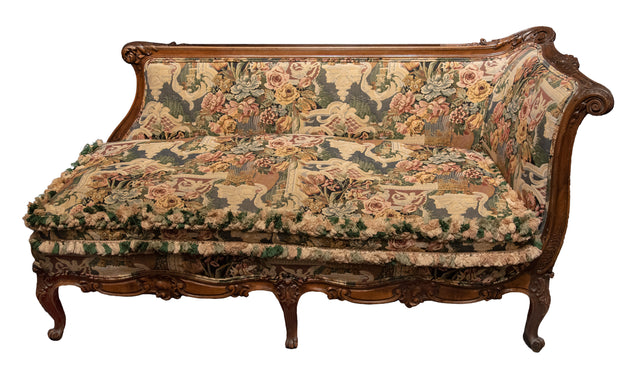 French Louis XV Style Recamier Sofa