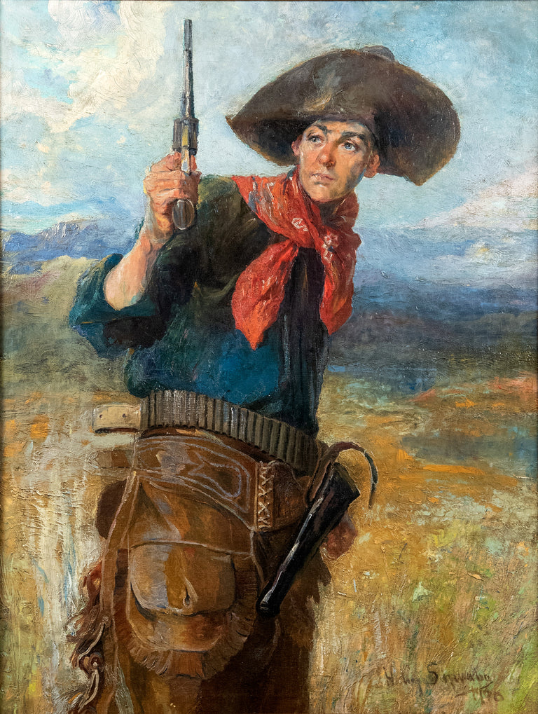 Sharpshooter (1908) by Henry August Schwabe (American/New Jersey, 1843-1916)