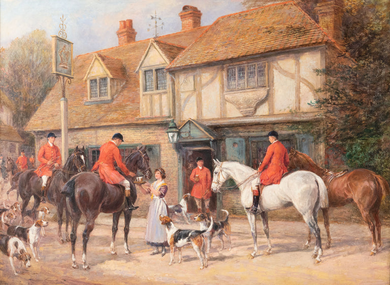 At the Crown Inn by Heywood Hardy