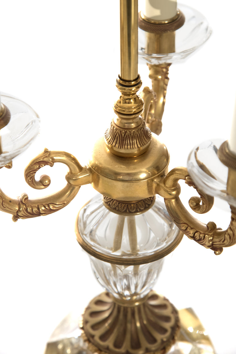 Crystal And Brass Table Lamp Anthonys Fine Art Antiques