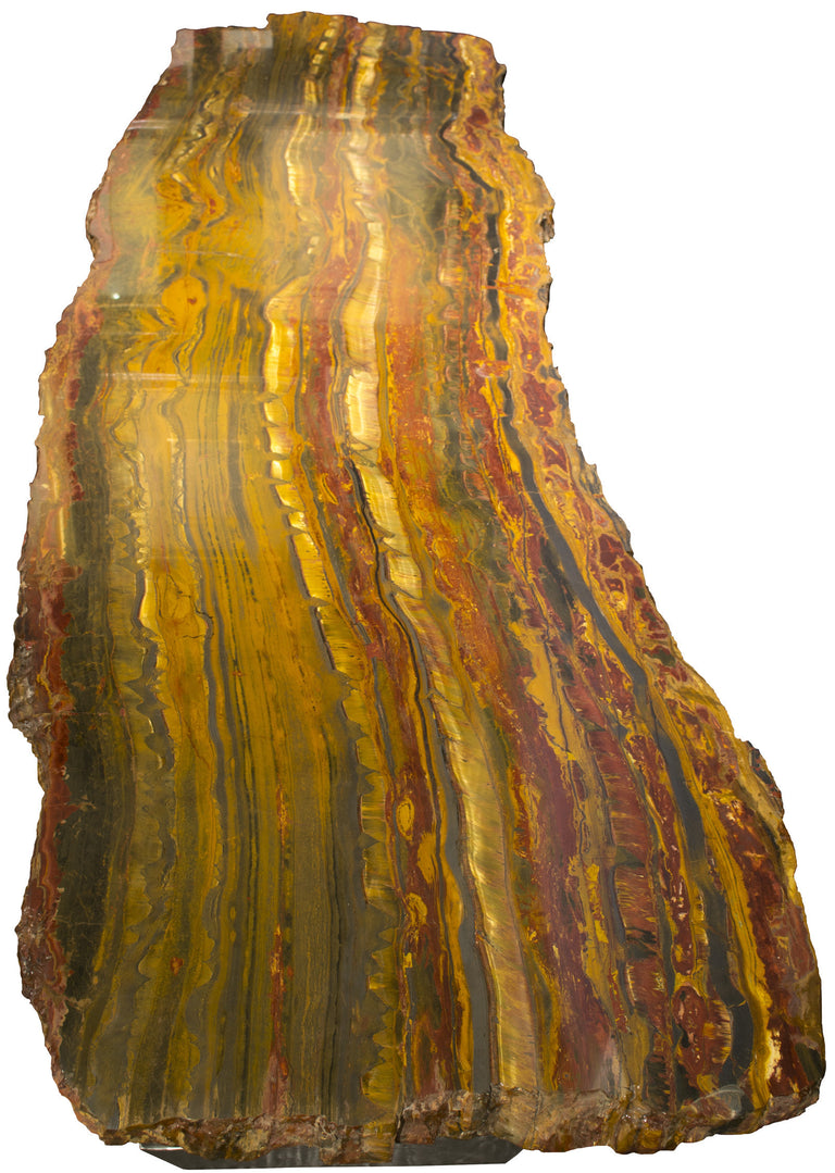 A Rare Australian Tiger's Eye Slab Table
