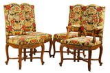 Set of Louis XV Style Tapestry Chairs