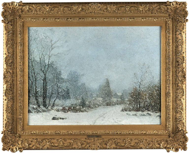 A Winter Landscape Oil Painting by Cyrus Dallin