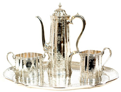 A Tiffany & Co. Sterling Tea service with tray