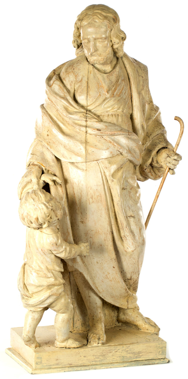 Italian Sculpture of Christ as the Good Shepherd