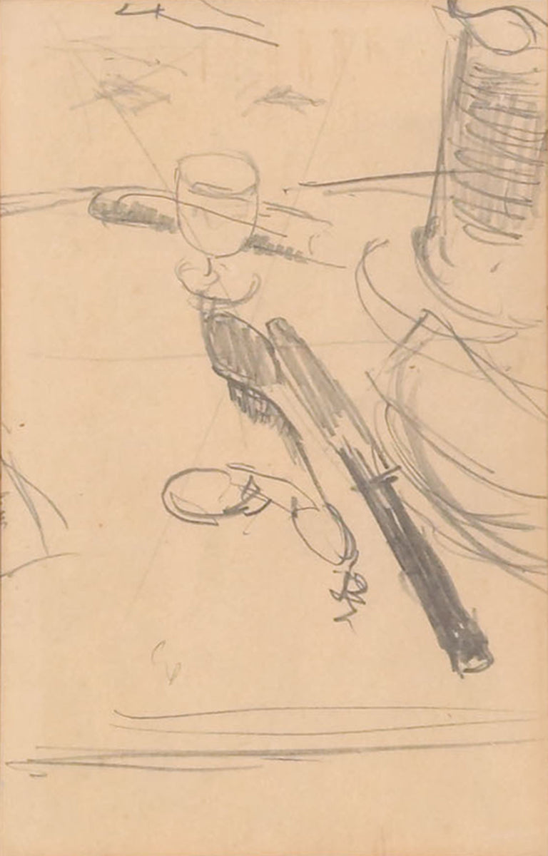 Double-sided pencil study titled Miss Lala au Cirque Fernando by Edgar Degas (French, 1834-1917)