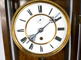 An 1857 Lenzkirch Mahogany Wall Clock