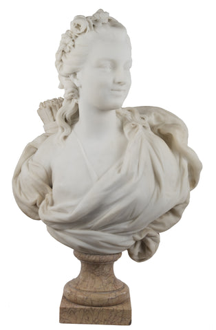 Marble Bust of Diana the Huntress