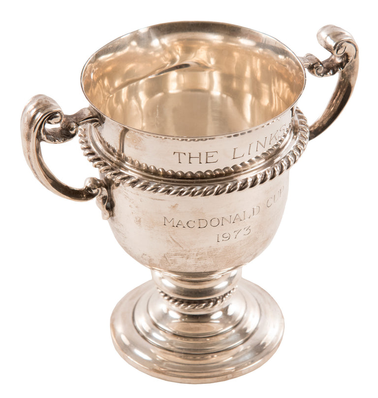 Sterling Silver Golfing Trophy Cup Awarded to Nelson Doubleday