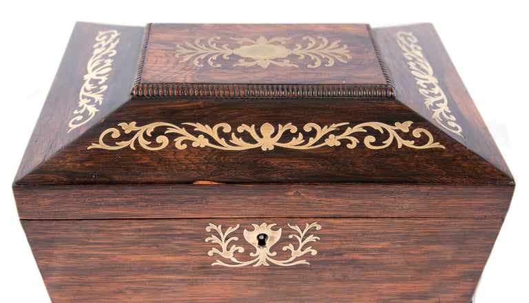 19th Century Walnut Tea Caddy