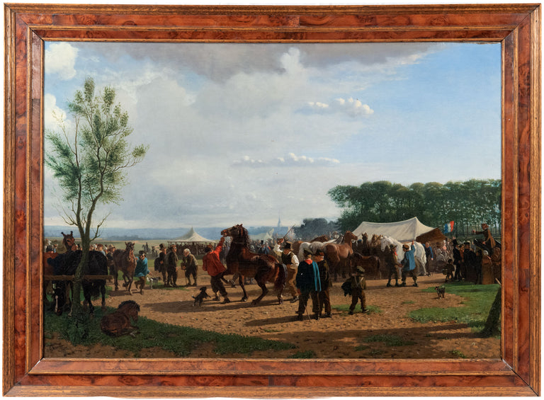 The Horse Fair by Cornelis Albert Johannes Schermer (Dutch, 1824 - 1915)