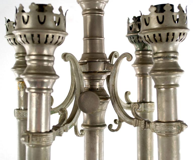 An Adjustable English Gothic Revival Candelabra
