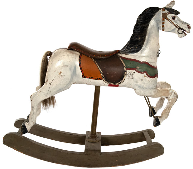 French carousel rocking horse (c. 1885)